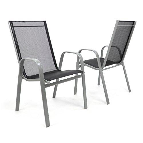 nexos gartenstuhl 2er set stapelstuhl stapelsessel. Black Bedroom Furniture Sets. Home Design Ideas