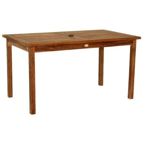 gartentisch 140x80cm aus massivholz teak natur modell kenny 0 m bel24. Black Bedroom Furniture Sets. Home Design Ideas