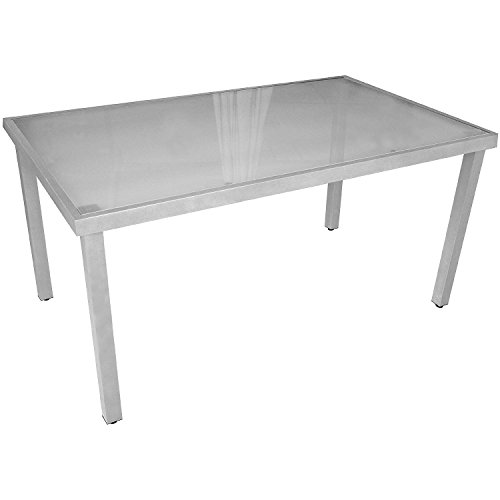 multistore 2002 lagerr umung gartentisch aluminium glastisch mit satinierter glasplatte. Black Bedroom Furniture Sets. Home Design Ideas