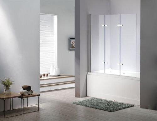 glas duschabtrennung seattle badewanne faltwand duschwand badewannenfaltwand 6mm esg. Black Bedroom Furniture Sets. Home Design Ideas