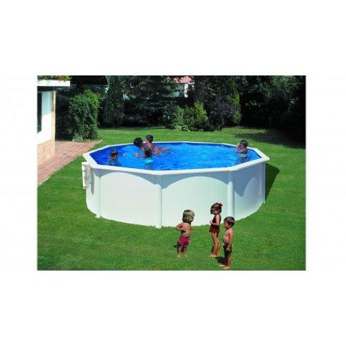 Gre m100407–Pool Stahl weiß rund kitpr353