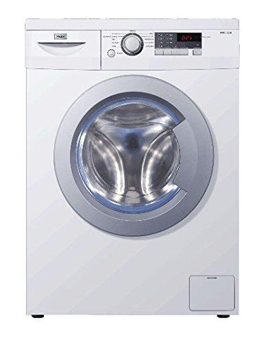 Haier HW80-1403D Waschmaschine FL / A+++ / 178 kWh/Jahr / 1400 UpM / 8 kg / 11022 L/Jahr / Blaue Anti-Bakterielle Türmanschette / AquaProtect Schlauch / weiß