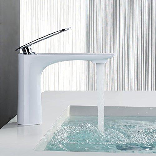 homelody weiss wasserhahn bad waschtischarmatur waschbecken armatur waschtisch. Black Bedroom Furniture Sets. Home Design Ideas