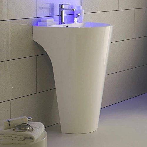 hudson reed waschbecken lavish standwaschbecken aus kunstharz mit gelbeschichtung in wei. Black Bedroom Furniture Sets. Home Design Ideas