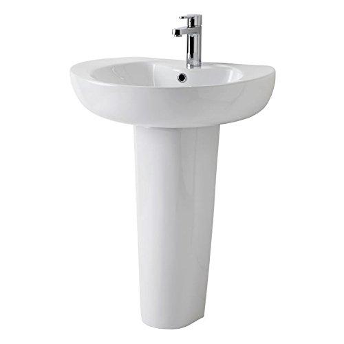 Freistehende Waschbecken mit Säule oder mit Schrank in ...