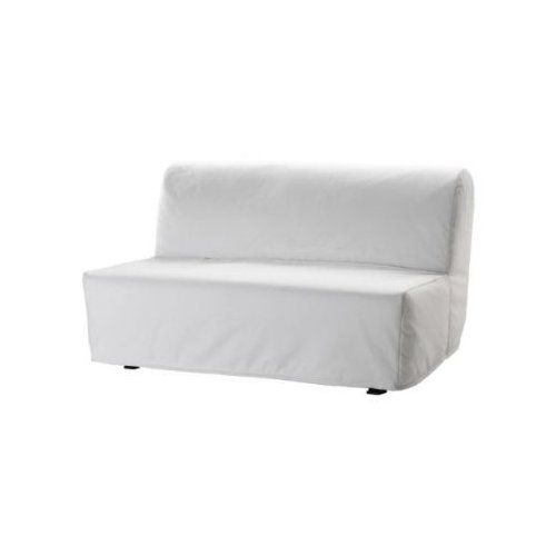 ikea bettsofa lycksele 2 er sofa schlafsofa inkl matratze lattenrost bezug in weiss. Black Bedroom Furniture Sets. Home Design Ideas