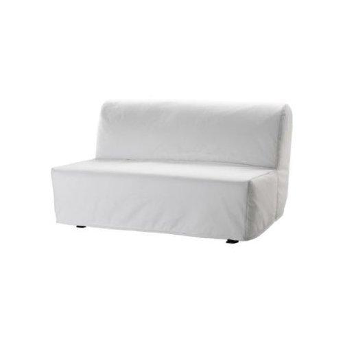"IKEA Bettsofa ""LYCKSELE"" 2-er Sofa Schlafsofa INKL. Matratze + Lattenrost + Bezug in WEISS"