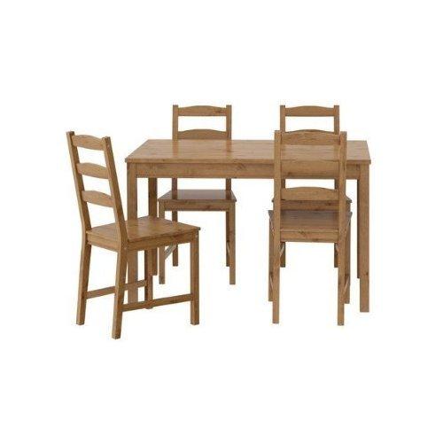 """IKEA Sitzgruppe """"Jokkmokk"""" Tisch + 4 Stühle aus massiver, gebeizter Kiefer"""