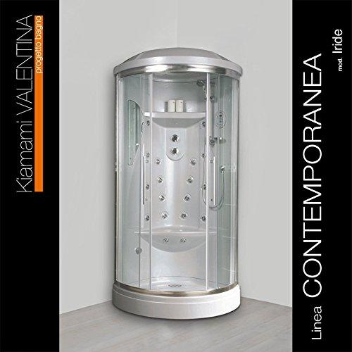 iride hydromassage duschkabine mit sauna 90x90 m bel24. Black Bedroom Furniture Sets. Home Design Ideas