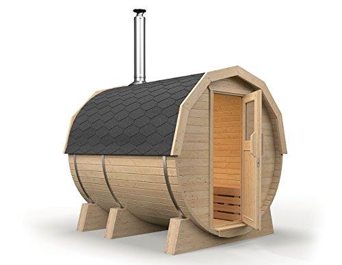 isidor fasssauna m1 premium 2 46m mit holzofen harvia m3 und espe saunaholz bei allen. Black Bedroom Furniture Sets. Home Design Ideas