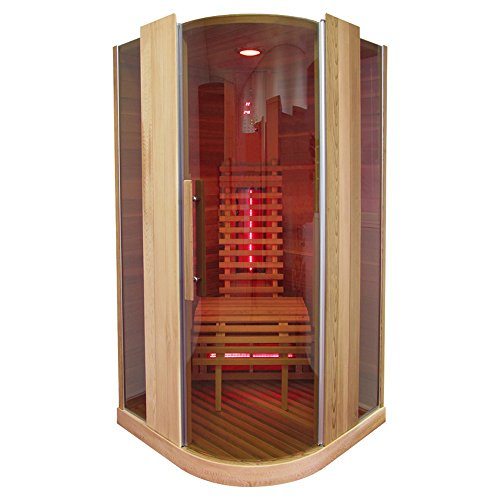 Infrarotkabine | Infrarot | Wärmekabine | Infrarotsauna | Sauna 100 x 100 I Hemlock Holz, Strahler Art:Full Spectrum Strahler