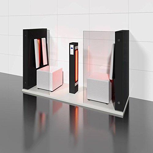 Infrarotkabine | Infrarotsauna AIR DUO hochglanz schwarz für zwei Personen von b-intense by Physiotherm - ein Angebot von welcon-wellness.de