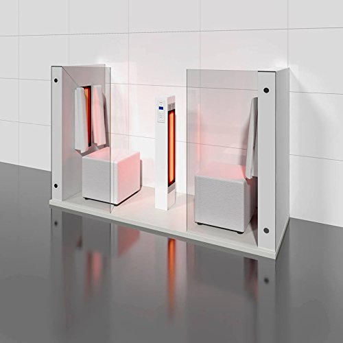 Infrarotkabine | Infrarotsauna AIR DUO matt weiß für zwei Personen von b-intense by Physiotherm - ein Angebot von welcon-wellness.de