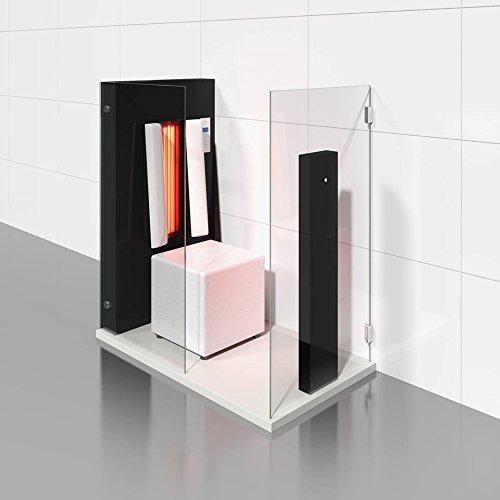 Infrarotkabine | Infrarotsauna AIR SOLO hochglanz schwarz für eine Person von b-intense by Physiotherm - ein Angebot von welcon-wellness.de