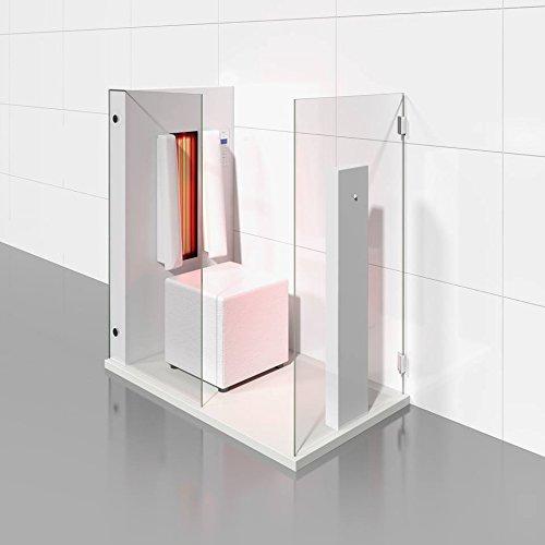 Infrarotkabine | Infrarotsauna AIR SOLO matt weiß für eine Person von b-intense by Physiotherm - ein Angebot von welcon-wellness.de