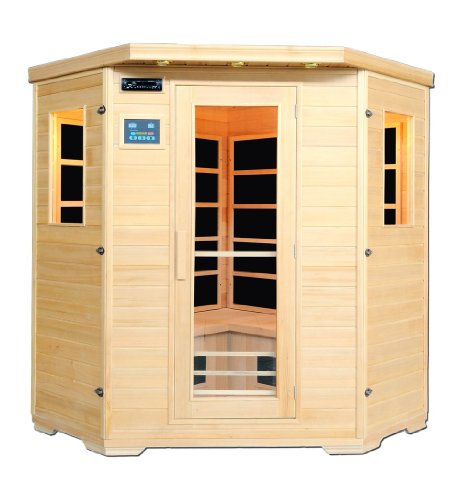 infrarotkabine malm fl chenstrahler hemlockholz eckkabine f r 4 personen artsauna m bel24. Black Bedroom Furniture Sets. Home Design Ideas