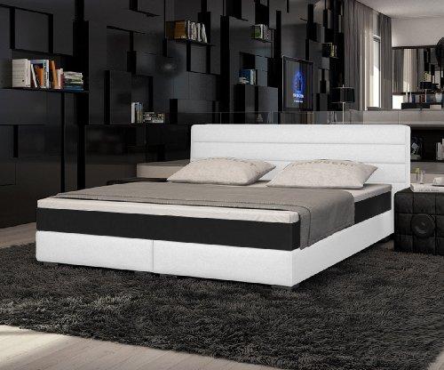 innocent boxspringbett aus kunstleder wei panson b 140 x l 200 cm m bel24. Black Bedroom Furniture Sets. Home Design Ideas
