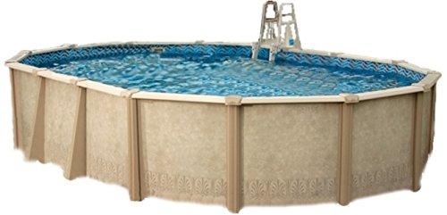 interline 55000120 oval pool sunlake durchmesser 6 10m x 3 60m tiefe 1 32m komplett set 6m h. Black Bedroom Furniture Sets. Home Design Ideas