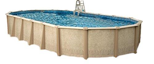 Interline 55000124 oval Pool Sunlake Durchmesser 7,30m x 3,60m, Tiefe 1,32m, Komplett Set 6m³/h, Wasserinhalt ca. 35m³