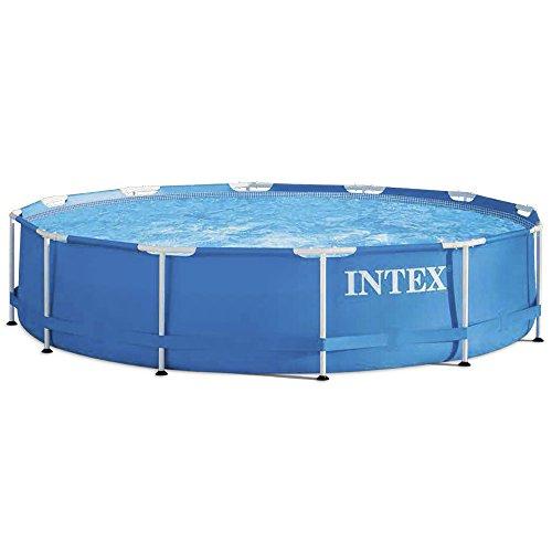 Intex Aufstellpool Frame Pool Set Rondo, Blau, Ø 366 x 76 cm