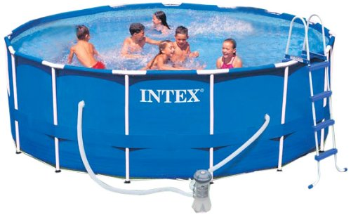 Intex Aufstellpool Frame Pool Set Rondo, TÜV/GS, Blau, Ø 457 x 122 cm