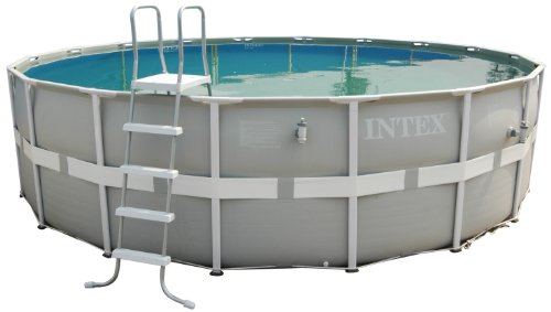 Intex Aufstellpool Frame Pool Set Ultra Rondo, Grau, Ø 488 x 122 cm