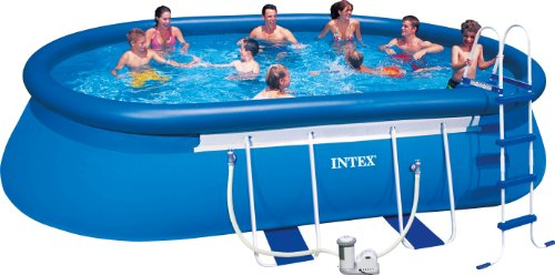 intex aufstellpool oval frame pool set t v gs blau 549 x 305 x 107 cm m bel24. Black Bedroom Furniture Sets. Home Design Ideas