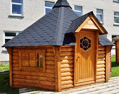 JUNIT GKF06901 6,9 m2 Grillkota, Fichte für ca. 7 Personen