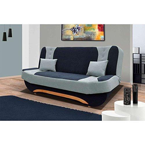justyou eva ii einzelsofa sofa schlafsofa mikrofaser hxbxt 100x200x95 cm schwarz grau m bel24. Black Bedroom Furniture Sets. Home Design Ideas