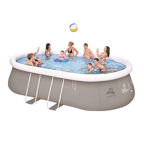 Jilong JL017449N -P33 Stahlrahmen Quick-up Pool, 540 x 304 x 106 cm, Chinook grau