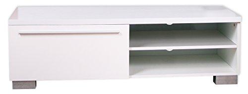 """KMH®, Tv Tisch """"Brillante"""" - (hochglanz / weiss / 120cm) (#207052)"""