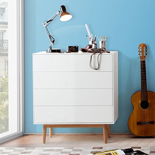 dasm belwerk tv lowboard malm sideboard weiss modern skandinavisches retro design massiv holz. Black Bedroom Furniture Sets. Home Design Ideas
