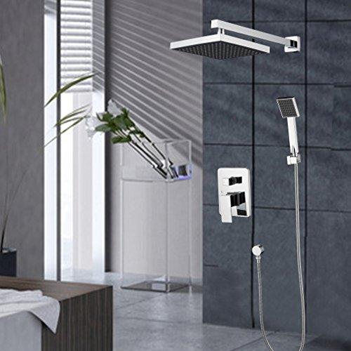 kinse duschsystem berkopf wasserfall brauseset dusche wasserhahn inkl 8 zoll duschkopf und. Black Bedroom Furniture Sets. Home Design Ideas