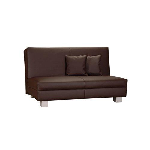 klappsofa aus kunstleder breite 140 cm farbe schwarz sitzpl tze 2 sitzpl tze pharao24 m bel24. Black Bedroom Furniture Sets. Home Design Ideas