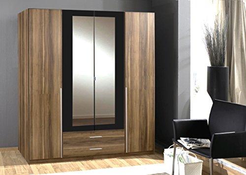 kleiderschrank aus deutschem wimex 4 t ren aus walnuss garderobenleiste verkauf 7 star m bel. Black Bedroom Furniture Sets. Home Design Ideas