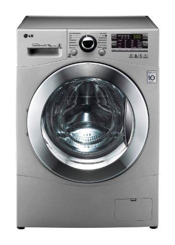 LG F 14A8 RD5 Waschtrockner AA/1400 UpM/9 kg Waschen/6 kg Trocknen/Kurzwäsche/Beladungserkennung/Smart Diagnosis/silber