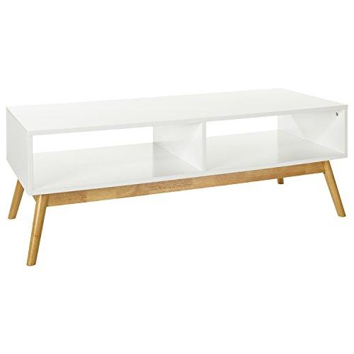 LOMOS No.12 TV-/Lowboard aus Holz in Weiß mit Zwei Fächern im Modernen skandinavischen Design
