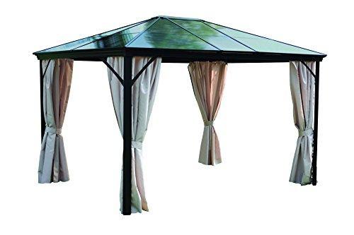 Leco 4713910103 Profi-Pavillon, 365 x 300 x 260 cm, grau / braun