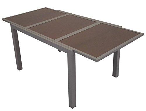 leco alu ausziehtisch 180 240cm garten tisch gartentisch. Black Bedroom Furniture Sets. Home Design Ideas