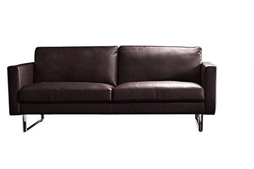 moebelhome Leder Sofa Neapel V1, Echt Leder, Voll Leder, 2er