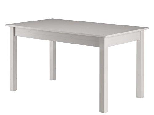 LifeStyleDesign 645016 Tisch Torino, kiefer massiv, 74 x 70 x 105 cm, weiß lackiert