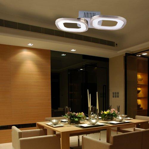 Lu-Mi LED Deckenleuchte Pendelleuchte Höhenverstellbar Küchen Wohnzimmer Designleuchte Deckenlampe Schlafzimmer Modern (Deckenleuchte - Voie PD2)