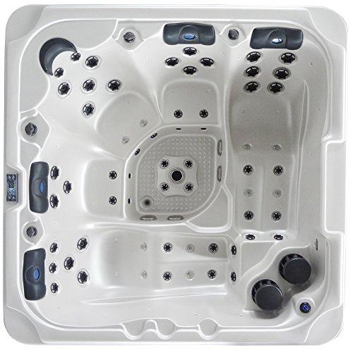 Luxus Outdoor SPA Whirlpool Aussenwhirlpool Hot Tub für bis zu 5 Personen mit Balboa Steuerung, zusätzlicher Isolierung und vielen Extras