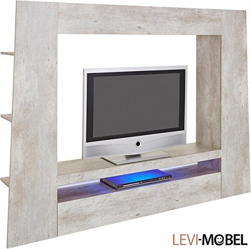 levi moebel mediawand tv lowboard wohnzimmer wohnwand beton optik neu 318661 m bel24. Black Bedroom Furniture Sets. Home Design Ideas