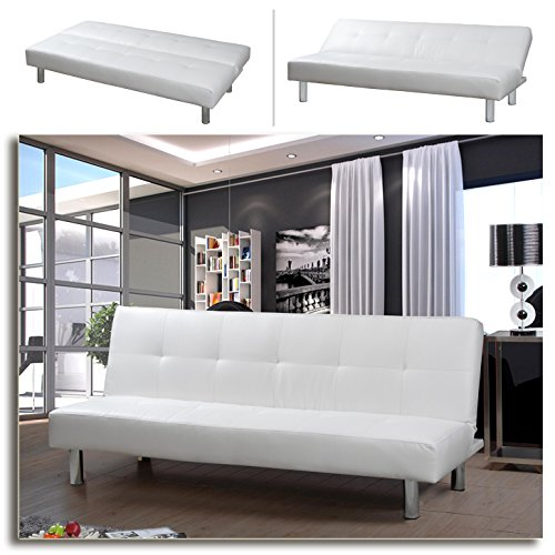 milano bluetooth schlafsofa weiss bettsofa schlafcouch m bel24. Black Bedroom Furniture Sets. Home Design Ideas