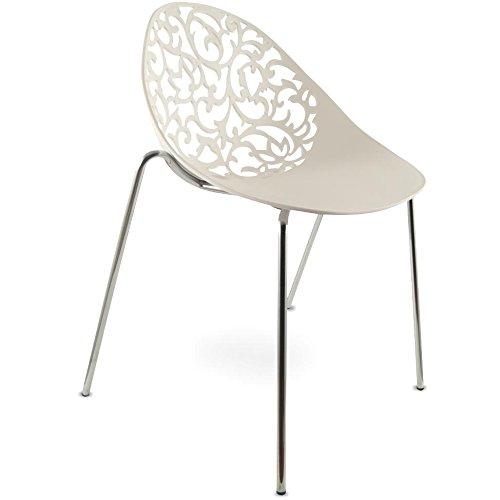 mojoliving MOJO Design Stuhl Plastikstuhl Stapelstuhl Gartenstuhl Stapelbar S08