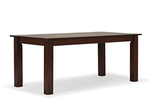 massivum Esstisch Bologna 120x75x80 cm Rubberwood braun gebeizt und lackiert