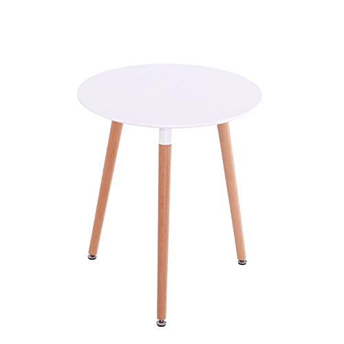 Mdf Inspiration Retro Esstisch Rund 80 Cm Durchmesser Weiß Tisch