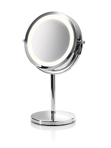 Medisana CM 840 Kosmetikspiegel 88550, beleuchtet mit 5-facher Vergrößerung und 360° Schwenkfunktion