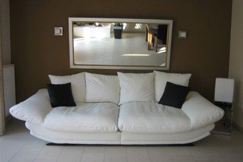 Mega-Loungesofa -Rose- riesige und megabequeme Sitzflächen - Kunstleder Weiss -